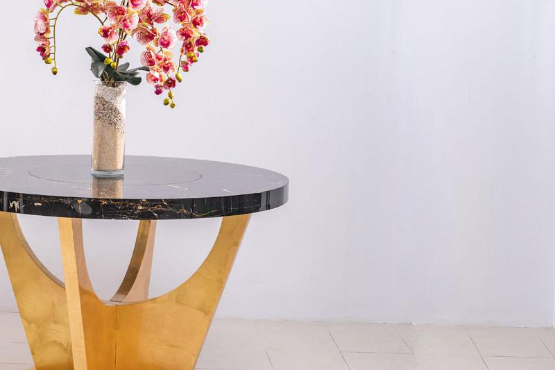 Decorated Corner Table